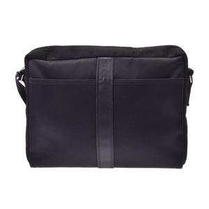 Hermes Acapulco Vasas black men's ladies canvas / leather shoulder bag HERMES second hand silver storage