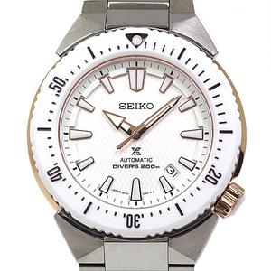 SEIKO Seiko Mens Watches Prospex Divers SBDC 037 White dial automatic winding