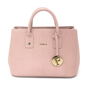 Furla FURLA 2 WAY Handbag Shoulder Bag Light Pink Gold Hardware A Rank