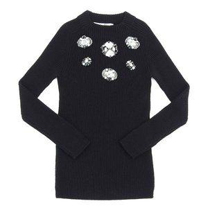 Genuine Christian Dior knit rhinestone black ladies 40