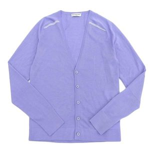 Real genuine BALENCIAGA Balenciaga cashmere blend V neck men's cardigan light purple XS