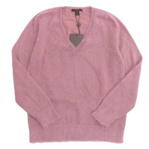 Genuine LOUIS VITTON Louis Vuitton mohair V neck sweater pink M