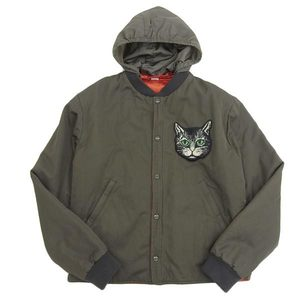 Genuine GUCCI Gucci Mystic Cat & Vintage Logo Reversible Blouson Jacket with Hood 46