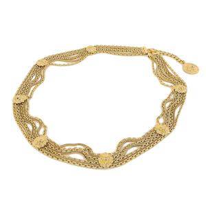 Genuine CHANEL Chanel Coco Mark chain belt Lion gold