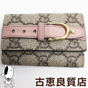 Gucci GUCCI Nice PVC GG canvas beige × pink 309759 6 consecutive key case