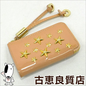 Jimmy Choo JIMMY CHOO NELLIE coin case purse star studs hon