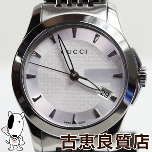 MT 1375 Watch GUCCI Gucci 126.5 G Timeless Ladies Quartz Wrist SS White Dial / Silver Stainless Steel (SS) (YA126501)