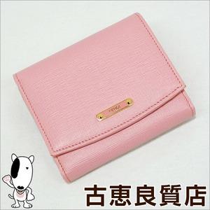 FENDI Fendi Crayons Saffiano Leather Small Wallet Purse 8M0339 00W2F FOP47 Pink hon