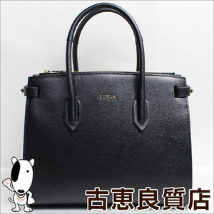 Furla FURLA leather 942235 PIN S TOTE E / W shoulder bag 2 way ONYX
