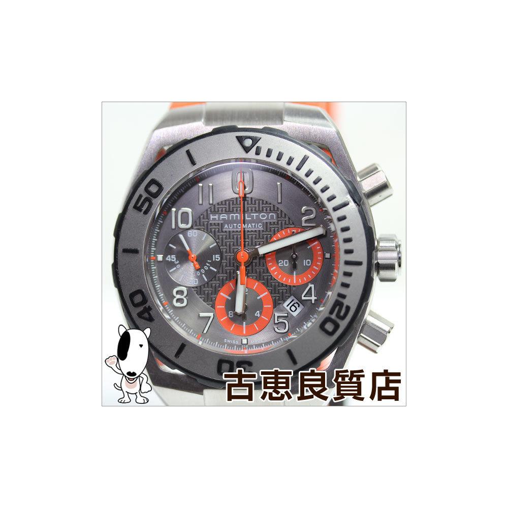 Mt1216 Hamilton Hamilton Khaki Navy Sub Auto Chrono 300 M Waterproof Men S H78716983 Watch Automatic Winding Elady Com