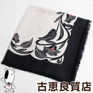 LV lv Louis Vuitton LOUIS VUITTON shawl monogram anachronism 2018 AW MP 2187