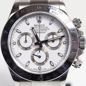 MT1464 ROLEX Rolex SS Stainless Steel Men's Watch Automatic Winding 116520 Daytona DAYTONA White Dial