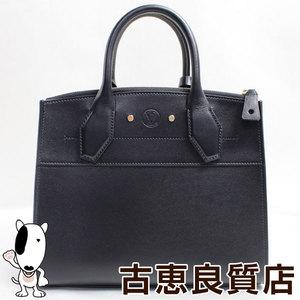 LV lv Louis Vuitton LOUIS VUITTON M51028 Handbag City Steamer PM Calf Leather Noir 2WAY Shoulder Bag