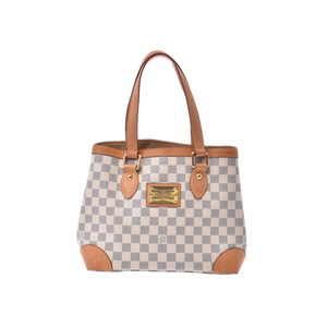 Louis Vuitton Azur Hempstead PM White N51207 Ladies' real leather handbag B rank LOUIS VUITTON second hand silver storage