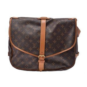 Louis Vuitton Monogram Saumur 35 Brown M42254 Ladies Men's Genuine Leather Shoulder Bag B Rank LOUIS VUITTON Used Ginza