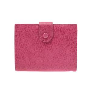 シャネル(Chanel) シャネル 二ツ折がま口財布 ピンク レディース キャビアスキン Bランク CHANEL 中古 銀蔵