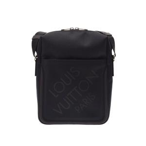 Louis Vuitton Damier Jean Shitadan Black M 93223 Mens Shoulder Bag New Shimmering Item LOUIS VUITTON Used Ginza