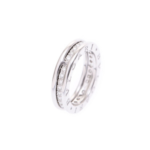 Bvlgari B-ZERO ring # 50 ladies WG full-dia 5.8 g A rank beautiful goods BVLGARI secondhand silver storage