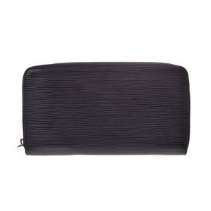 Louis Vuitton Epi Zippy organizer black M60632 Men's real leather wallet B rank LOUIS VUITTON second hand silver storage
