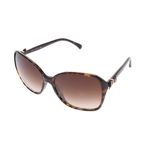 Chanel sunglasses tortoiseshell style 5205-A c. 714/3 B Brown Women's AB rank CHANEL case pre-owned ginza