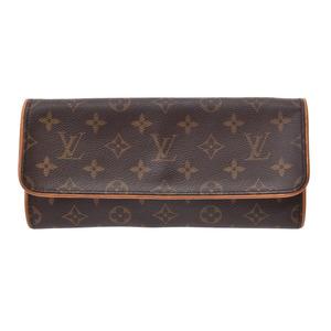 Louis Vuitton Monogram Pochette Twin GM Brown M51852 Ladies Leather Bag B Rank LOUIS VUITTON Used Ginza
