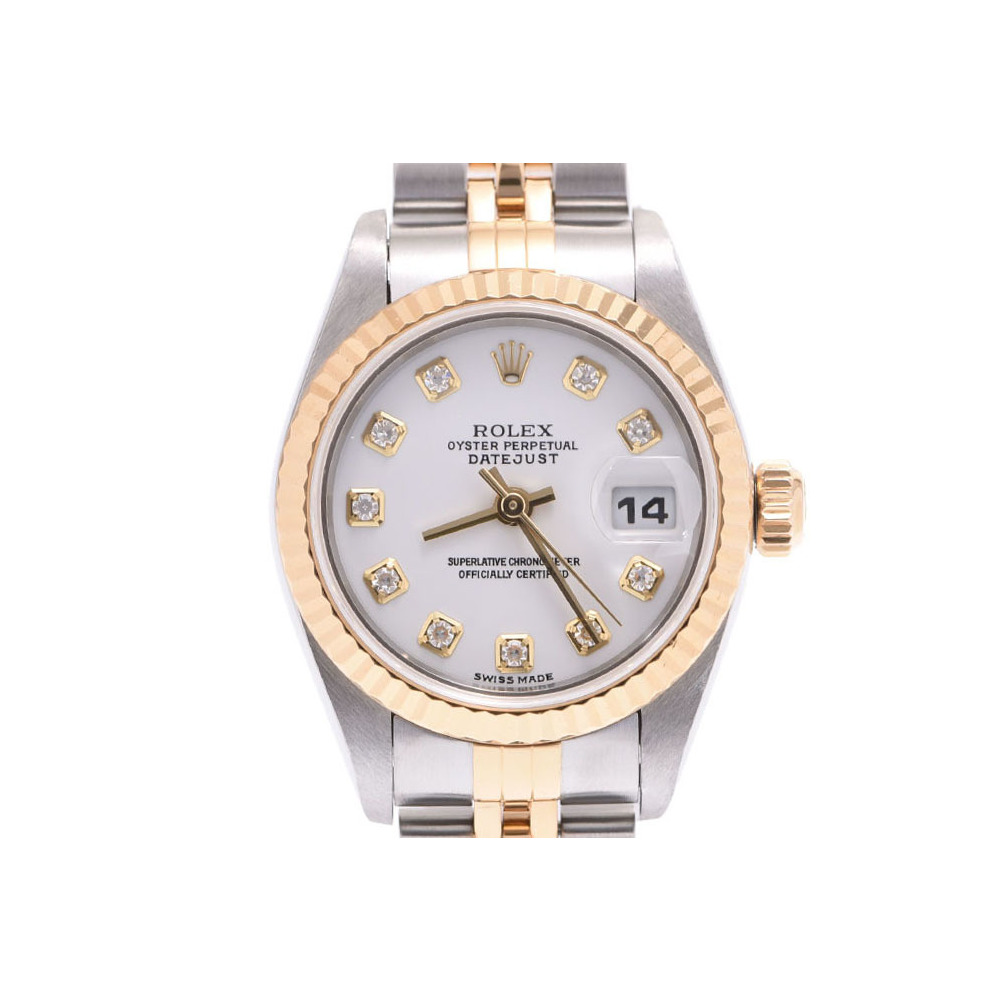 differently a05c8 bd82c Rolex Datejust White dial 79173G F Ladies YG / SS 10P diamond automatic  watch A rank beautiful goods ROLEX box gala second hand silver storage | ...