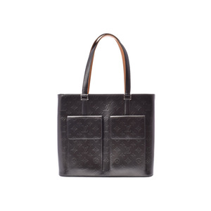 Louis Vuitton Monogram Matt Will Wood Black M55102 Ladies Leather Tote Bag Rank B LOUIS VUITTON Used Ginza