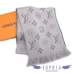 Louis Vuitton Eyeguaru logo mania muffler gray 20190212