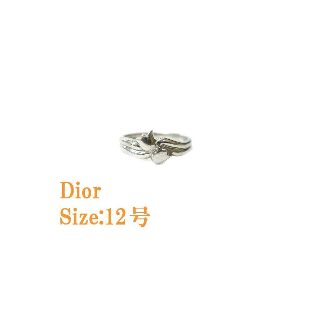 Christian Dior Pt 900 ring No. 12 Platinum 0675 Jewelry accessories