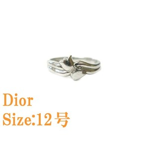Christian Dior Pt 900 ring No. 12 Platinum 0675 Jewelry accessories