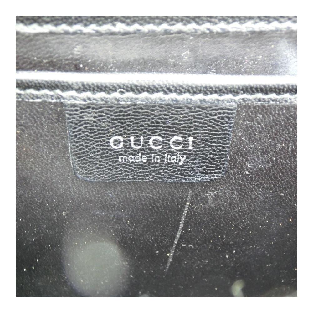 グッチ(Gucci) エナメル レディース レザー ポシェット ブラック