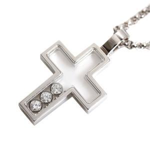 Chopard Happy Diamond Cross Pendant 79/4009 K18 WG Ladies Necklace Jewelry Finished