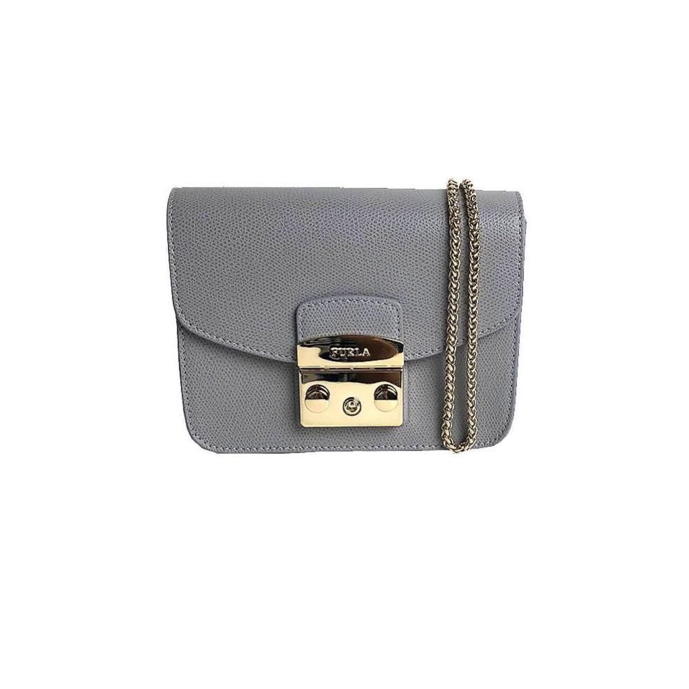 Furla FURLA Metropolis Mini Cross Body 903822 ARGILLA c Gray Shoulder Bag Women's