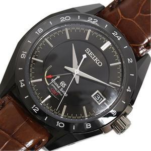 Seiko SEIKO Grand Spring Drive GMT SBGE 037 Limited 500 Ceramic Titanium Black Mens Wrist Watch