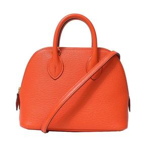 HERMES Boledo Mini 1923 Chevre Orange Poppy Gold Hardware A Shoulder Bag Women's