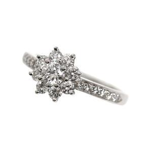 Tiffany TIFFANY & CO Flower Ring Platinum Diamond Ladies Jewelry Finished