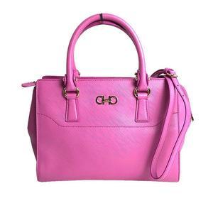 Salvatore Ferragamo Ferragamo Salvatore BEKY 2 WAY Handbag Anemone Shoulder Bag Women's