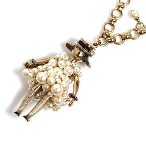 Chanel CHANEL Pearl Dress Doll Long Necklace Ladies' Pendant Accessory