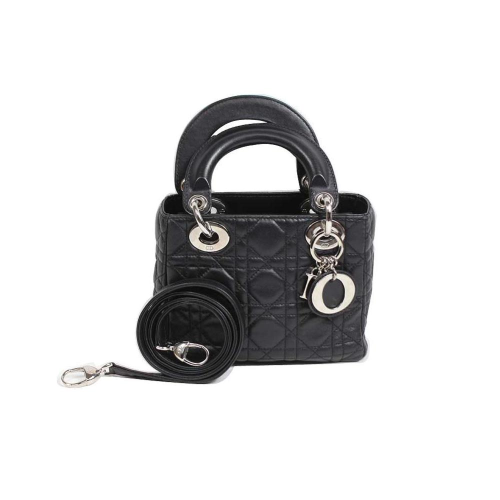Christian Dior Dior Christian Lady / Mini Shoulder Bag CAL 44500 Black