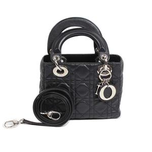 Christian Dior Dior Christian Lady / Mini Shoulder Bag CAL 44500 Black