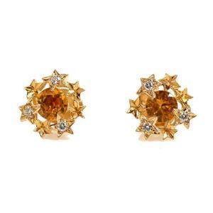 Chanel CHANEL Star Earrings K18YG Yellow Sapphire Diamond Ladies Jewelry Finished