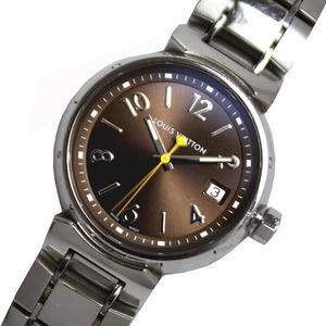 Louis Vuitton LOUIS VUITTON Tambour Q1311 Quartz Brown Ladies Men's Wrist Watch