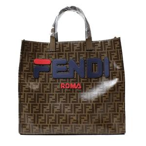 Hermes FENDI Fira Collaboration Tote Bag 8BH357 Brown × Multi Color Women's