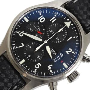 IWC pilot · watch chronograph IW377701 self-winding black men's