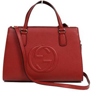 Gucci GUCCI SOHO 2 WAY Handbag 431571 Leather Red