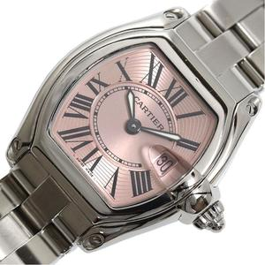 Cartier Roadster SM W62017V3 Quartz Pink Ladies Watch Finished