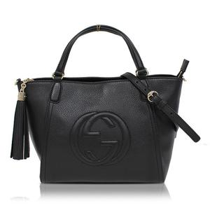 Gucci GUCCI Soho 2 Way Bag 369176 Black Leather Shoulder Women's