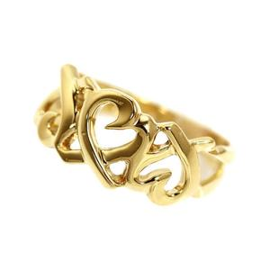 Tiffany & CO Paloma Picasso Loving Heart Ring K18YG Ladies Jewelry Finished