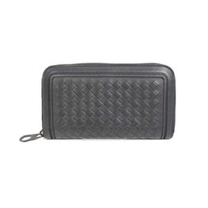 Bottega Veneta BOTTEGA VENETA Intorechato UND zipper long wallet 344679 Gray