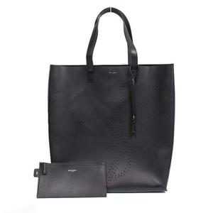 Saint Laurent SAINT LAURENT Bold Shopping Bag 396906 Calf Black Ladies Tote